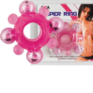 Toyfa кольцо С шариками erasexa фаллоимитатор лис small оранжево белый фаллоимитатор из серии зооэротика