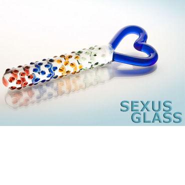 Sexus Glass фаллоимитатор Стекло sexus glass рельефный фаллоимитатор бело черный с плоским основанием