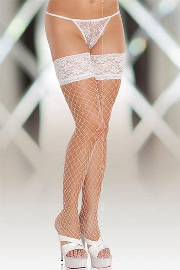 Soft Line чулки, белые В крупную сетку anne d ales erica stockings красные чулки в крупную сетку