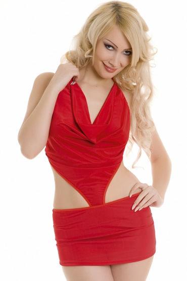 Erolanta платье С открытой спиной cotelli платье горничной черно белое с открытой спиной с застежкой на шее