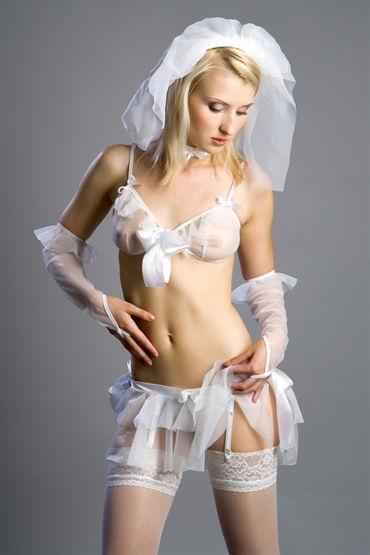 Flirt On Невеста Нежный наряд для ролевых игр flirt on christelle белый роскошная комбинация размер m l