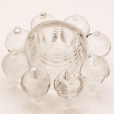 Toyfa кольцо, прозрачное Гелевое, эрекционное вагинальные шарики sexus funny five зеленые 11 см
