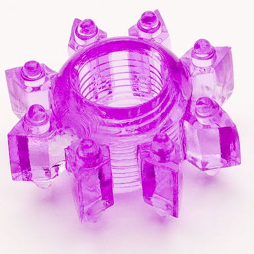 Toyfa кольцо, фиолетовое Эрекционное, в виде снежинки ouch leather collar and handcuffs розовый комплект для бандажа