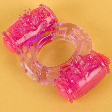 Toyfa виброкольцо Фиолетовое аксессуары и батарейки цвет бежевый