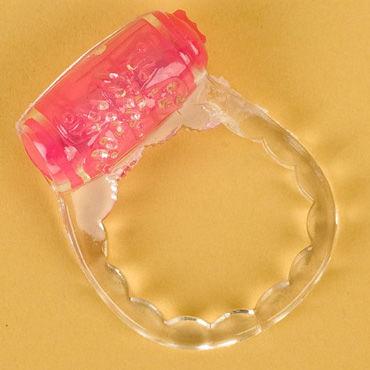 Toyfa кольцо, прозрачное С вибрацией toyfa насадка фиолетовая стимуляция клитора на присоске