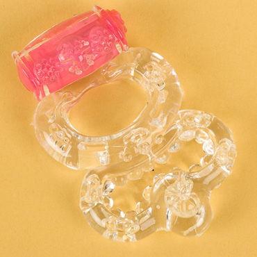 Toyfa кольцо, прозрачное С вибрацией рекционное кольцо tao hua wu кингконг для продления полового акта