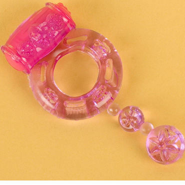 Toyfa кольцо, фиолетовое С вибрацией toyfa насадка фиолетовая с вибрацией