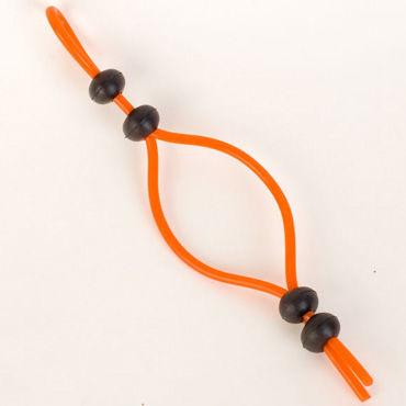 Toyfa лассо, оранжевое Четыре бусины toyfa theatre страусиное перо черное с рукояткой