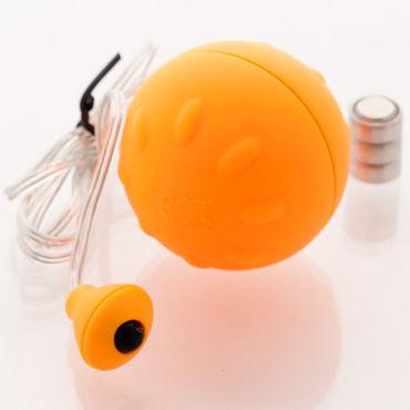 Sexus Funny Five виброяйцо, оранжевое Для вагинальной и анальной стимуляции topco climax bullets 10x super vibrating bullet голубое виброяйцо с 10 функциями