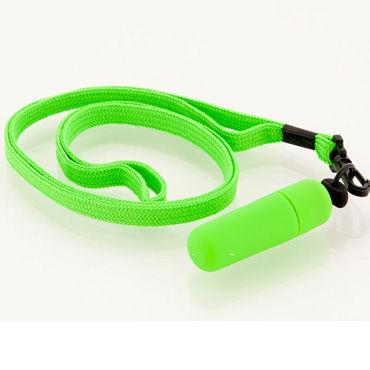 Sexus Funny Five вибропуля, зеленая С ремешком на шею вибратор sexus funny five оранжевый 14 см