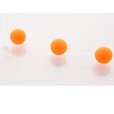 Sexus Funny Five шарики, оранжевые Для стимуляции анальных мышц ouch fashionable buttplug черная анальная пробка с прозрачным кристаллом