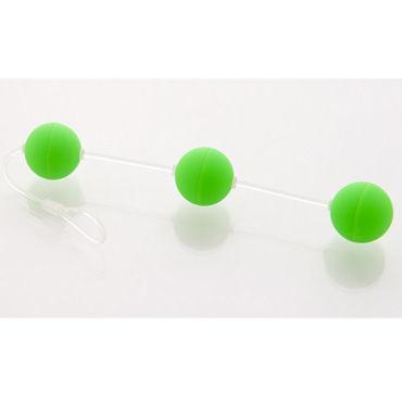Sexus Funny Five шарики, зеленые Для стимуляции анальных мышц ouch wooden bridle с фиолетовым ремешком кляп в форме палочки