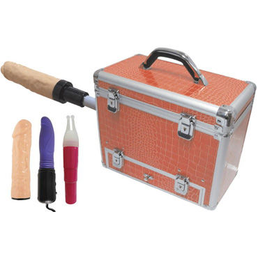 MyWorld Wiggler, секс-чемодан На замочках, с насадкой для фаллоса bad kitty feather черное перышко с длинной ручкой