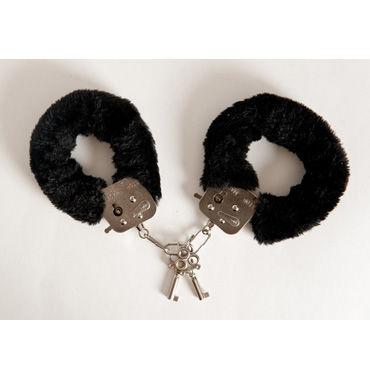 Toyfa наручники, 6см, черные Покрыты мягким материалом, с изящными ключиками