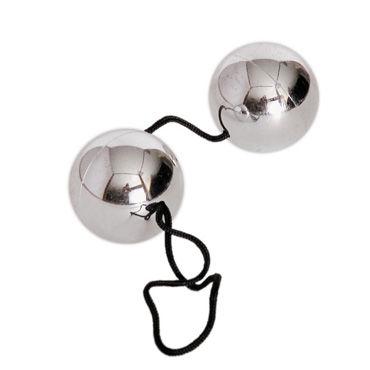 Toyfa шарики вагинальные, серебристые Со смещенным центром тяжести, имитация металла toyfa a toys pleasure balls голубые вагинальные шарики со смещенным центром тяжести