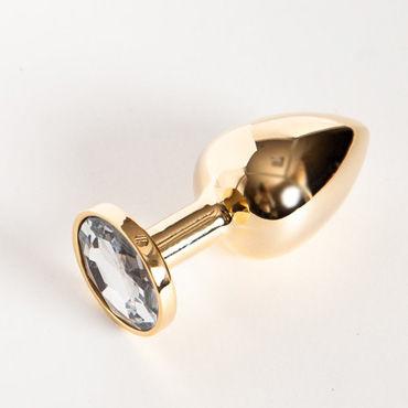 Toyfa втулка, 7 см, золотистая На подставке, с имитацией бриллианта shirley шляпка 7 букв