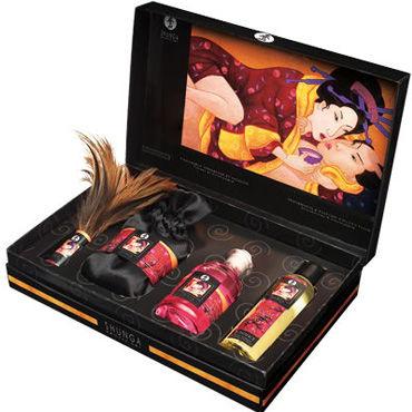 Shunga набор Нежность и страсть 4 предмета, с ароматом земляники и шампанского sitabella комета красная плеть с кожаными хвостами