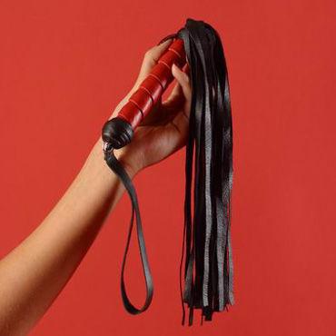 Podium флогер Витая ручка, хвост из 30 полос чулки сетка soft line с кружевной резинкой черные l