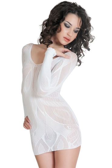 Erolanta платье, белое C изящным орнаментом в страпоны с креплениями диаметр 2 3 смотреть