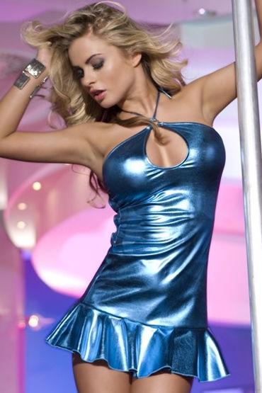Candy Girl платье, голубое С открытой спинкой страпоны с креплениями для мужчин seven creations