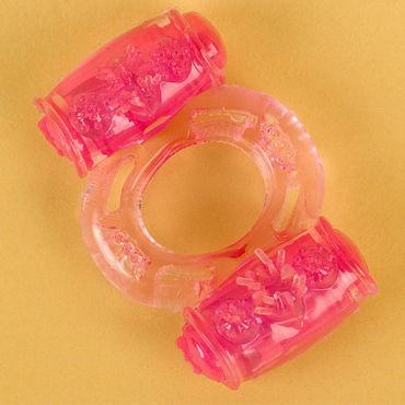 Toyfa кольцо, розовое С вибрацией toyfa theatre страусиное перо черное с рукояткой