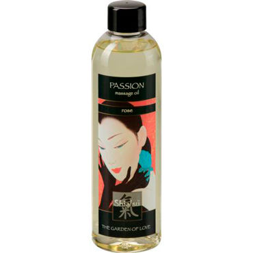 Shiatsu Oil Passion Rose, 250 мл Массажное масло роза дилдо comet pearl фолетовый
