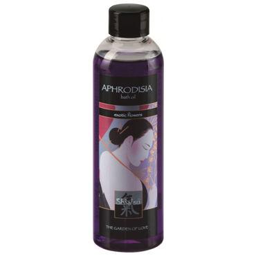 Shiatsu Aphrodisia Exotic Flowers, 250 мл Масло для ванны экзотические цветы ouch wooden bridle с фиолетовым ремешком кляп в форме палочки