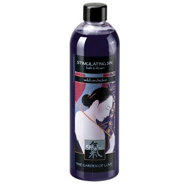 Shiatsu Stimulating Sin Wild Orchidee, 400 мл Гель для душа и ванны дикая орхидея массажный гель и лубрикант shiatsu 2 в 1 нейтрал 200 мл