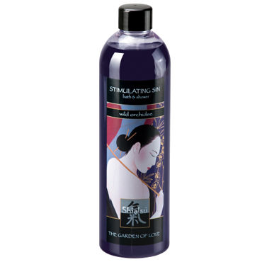 Shiatsu Stimulating Sin Wild Orchidee, 400 мл Гель для душа и ванны дикая орхидея lick it wild kirsche 50 мл olay