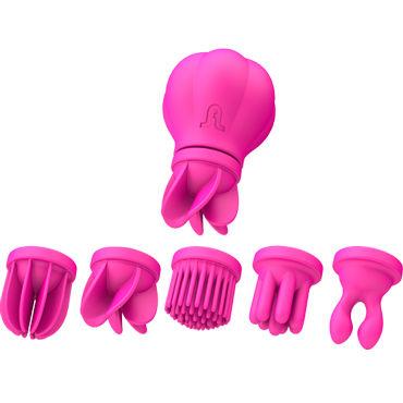 Adrien Lastic Caress, розовый Стимулятор клитора и интимных зон визит презервативы ribbed ребристые 12шт