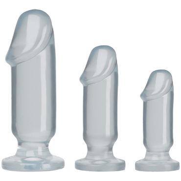 """Doc Johnson Anal Starter Kit, прозрачные Набор анальных фаллоимитаторов вагинальные шарики posh silicone """"o"""" balls розовые"""