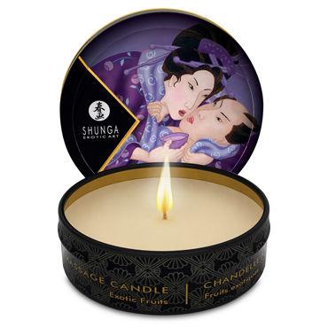 Shunga Massage Exotic Fruits, 30  мл Массажная свеча, экзотический фрукт увлажняющие смазки shunga