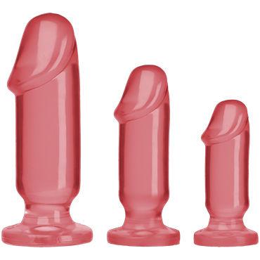 Doc Johnson Anal Starter Kit, розовые Набор анальных фаллоимитаторов mae b adel joy nmore виброяйцо с выносным пультом управления