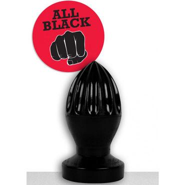 O-Products All Black Анальная пробка большого размера o products catnail men инструмент для пыток кровопускатель