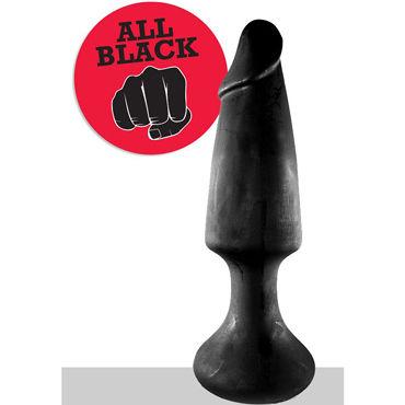 O-Products All Black Анальная пробка огромного размера masculan classic xxl black flag