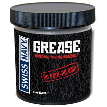 Swiss Navy Grease, 473 мл Крем для фистинга лубрикант swiss navy all natural гипоаллергенный 59 мл