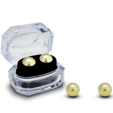 Gopaldas Вагинальные шарики, золотистые Утяжеленные в коробочке gopaldas domino metallic balls серые вагинальные шарики металлические