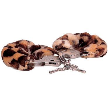 Gopaldas Luv-Bonds, леопардовые Наручники с мехом ouch body bondage tape розовая лента для тела