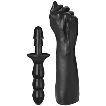 Doc Johnson TitanMen The Fist, черная Рука для фистинга giant family horny hand fist рука фаллоимитатор для фистинга