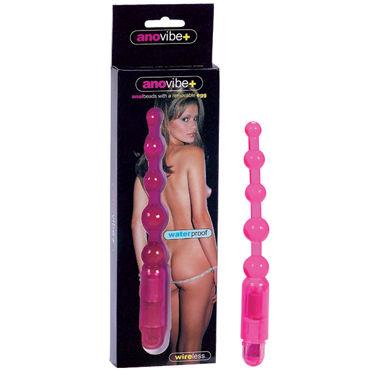 Gopaldas AnoVibe+ розовый Анальная цепочка с вибрацией gopaldas анальная цепочка синяя на жесткой сцепке