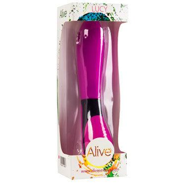 Alive Lucy, розовый Эргономичный вибромассажер интимные товары new furrniture s m sexbeltstrp