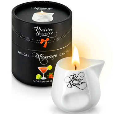 Plaisirs Secrets Massage Candle Cosmopolitan, 80мл Свеча массажная коктейль Cosmopolitan c bewicked wedding night teaser