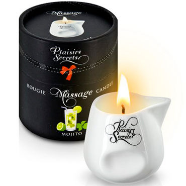 Plaisirs Secrets Massage Candle Mojito, 80мл Свеча массажная Мохито plaisirs secrets massage candle pomegranate 80мл свеча массажная спелый гранат