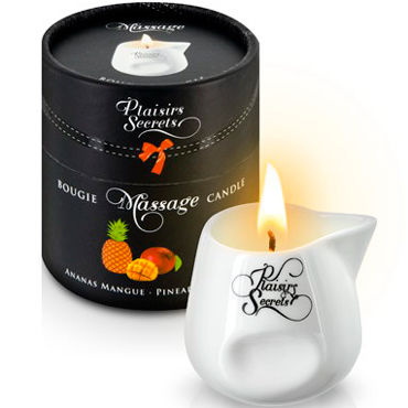 Plaisirs Secrets Massage Candle Pineapple Mango, 80мл Свеча массажная Манго и Ананас plaisirs secrets massage oil caramel 59мл массажное масло карамель