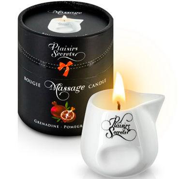 Plaisirs Secrets Massage Candle Pomegranate, 80мл Свеча массажная Спелый гранат plaisirs secrets massage candle vanilla 80мл свеча массажная ваниль