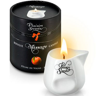 Plaisirs Secrets Massage Candle Peach, 80мл Свеча массажная Персик свеча candle cucumber water