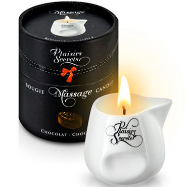 Plaisirs Secrets Massage Candle Chocolate, 80мл Свеча массажная Шоколад plaisirs secrets massage oil caramel 59мл массажное масло карамель