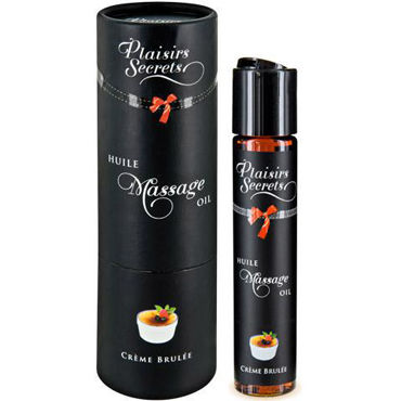 Plaisirs Secrets Massage Oil Creme Brulee, 59мл Массажное масло Крем Брюле массажное масло concorde клубника 59 мл