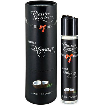 Plaisirs Secrets Massage Oil Coconut, 59мл Массажное масло Кокос ouch deluxe silicone strap on 10 фиолетовый страпон с креплениями