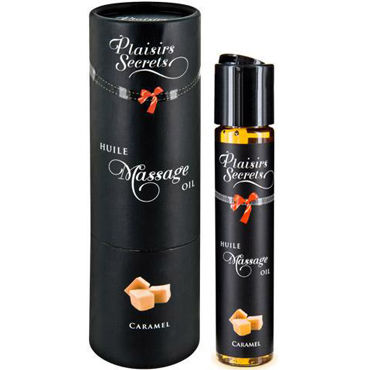 Plaisirs Secrets Massage Oil Caramel, 59мл Массажное масло Карамель plaisirs secrets massage oil exotic fruits 59мл массажное масло экзотические фрукты